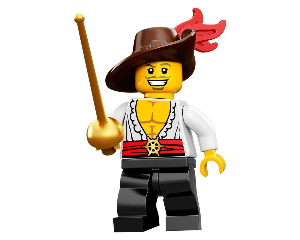 100/% Original Nuevo Lego Minifigures Serie 12 Minifigura Swashbuckler 71007