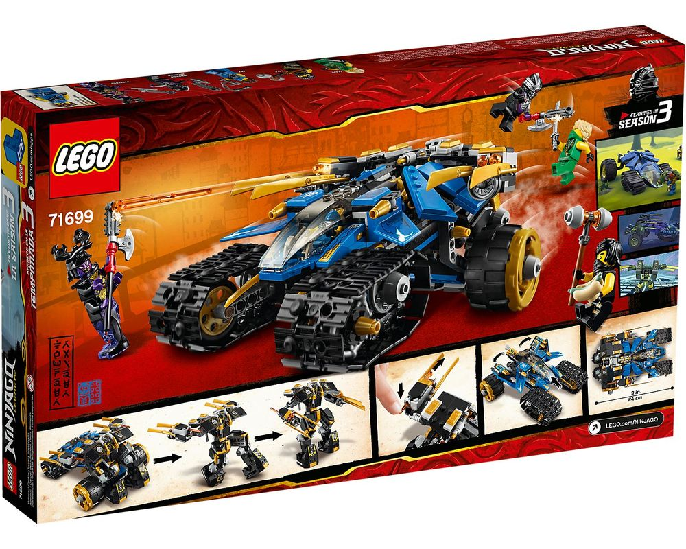 LEGO Set 71699-1 Thunder Raider (Box - Back)