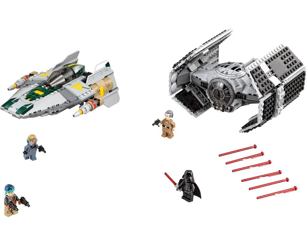 LEGO Set 75150-1 Vader's TIE Advanced vs. A-Wing Starfighter (LEGO - Model)