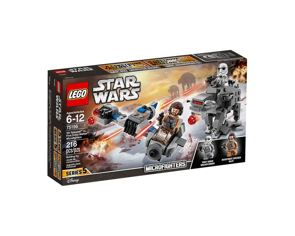 LEGO Set 75195-1 Ski Speeder vs First Order Walker Microfighter