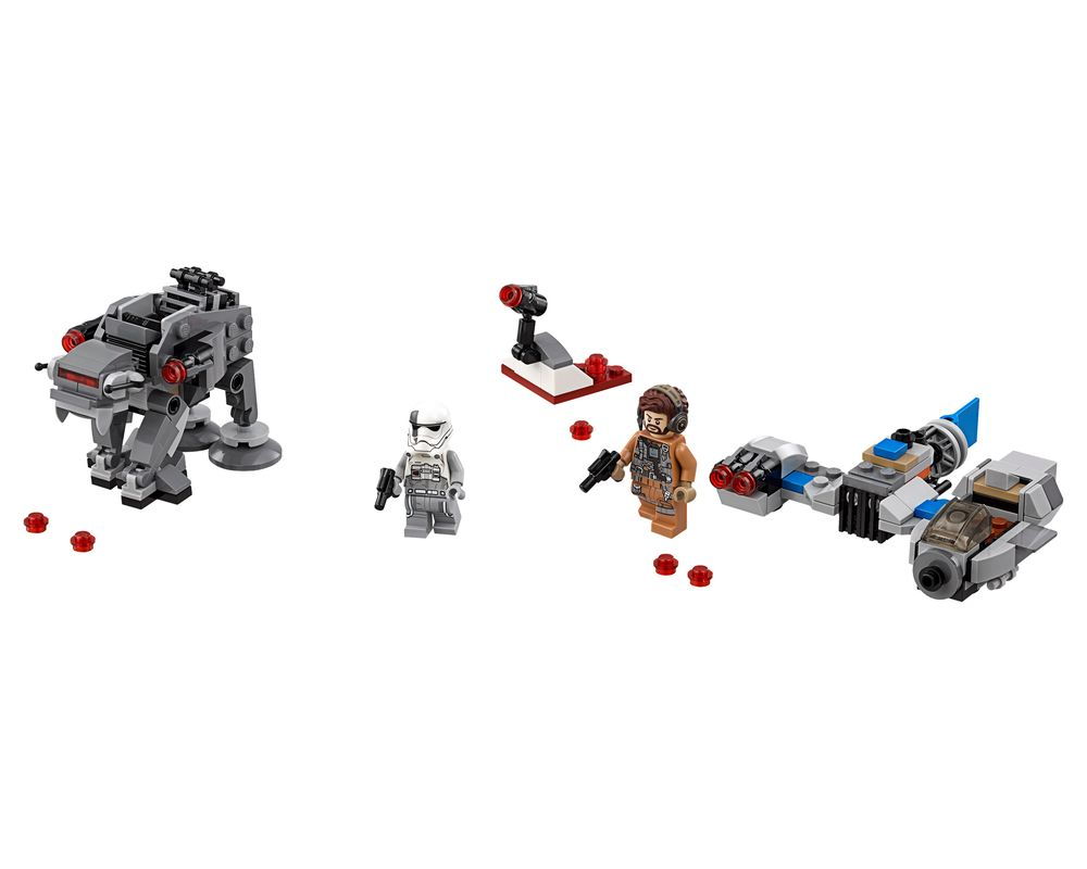 LEGO Set 75195-1 Ski Speeder vs First Order Walker Microfighter (Model - A-Model)