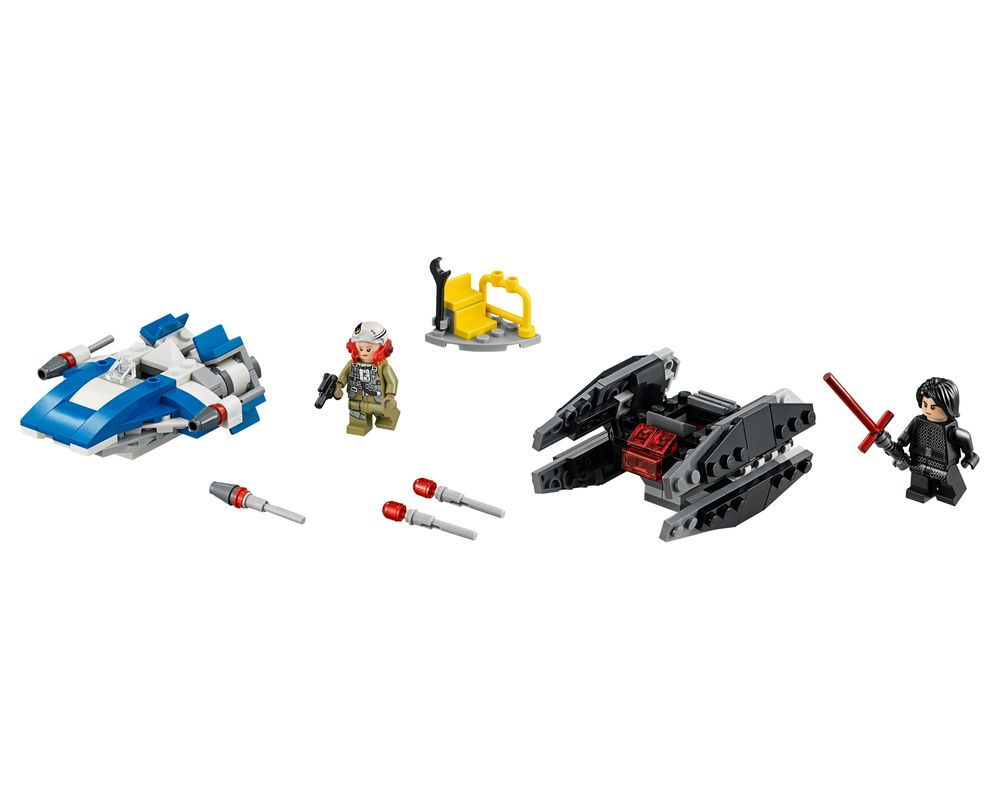 LEGO Set 75196-1 A-Wing vs TIE Silencer Microfighter (LEGO - Model)