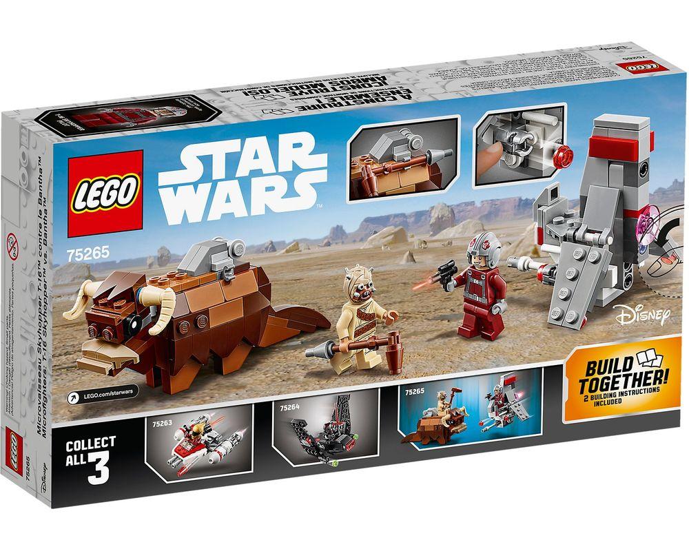 LEGO Set 75265-1 T-16 Skyhopper vs. Bantha Microfighters (Box - Back)