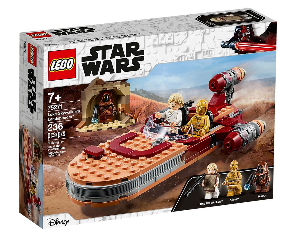 LEGO Set 75271-1 Luke Skywalker's Landspeeder (Box - Front)