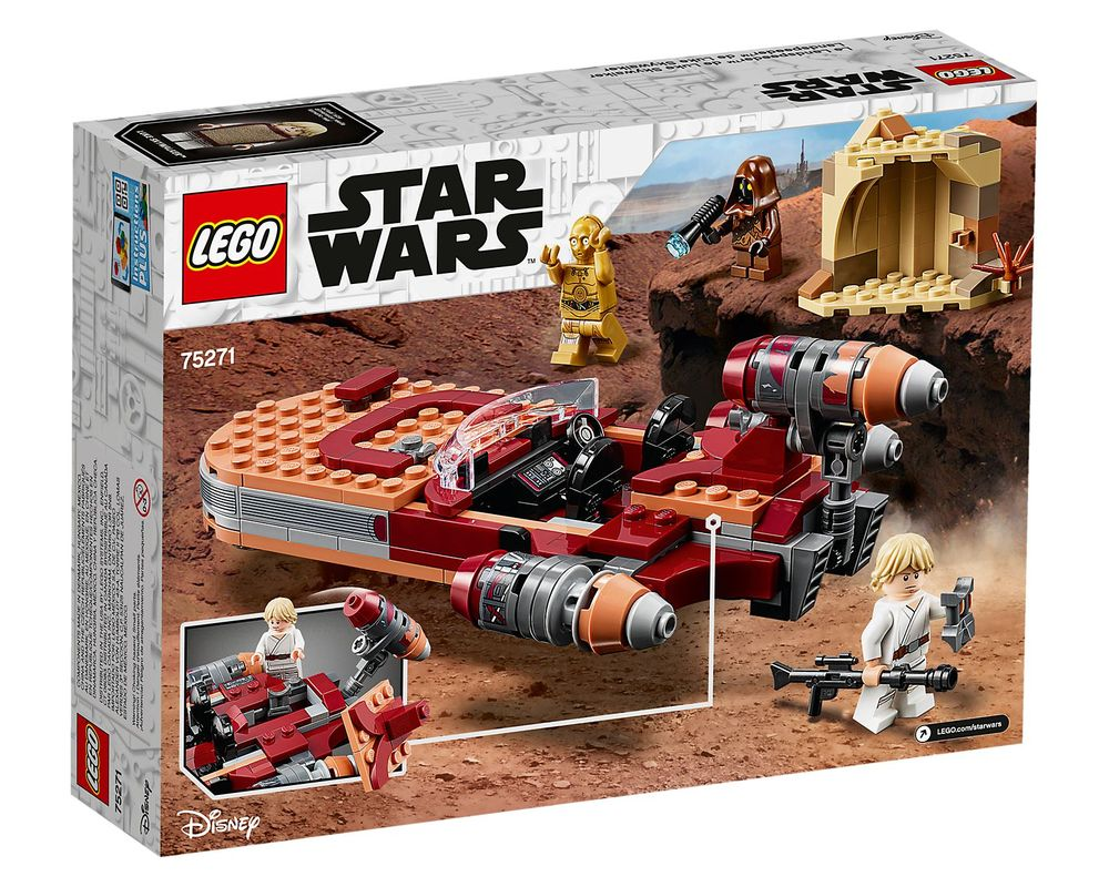 LEGO Set 75271-1 Luke Skywalker's Landspeeder (Box - Back)