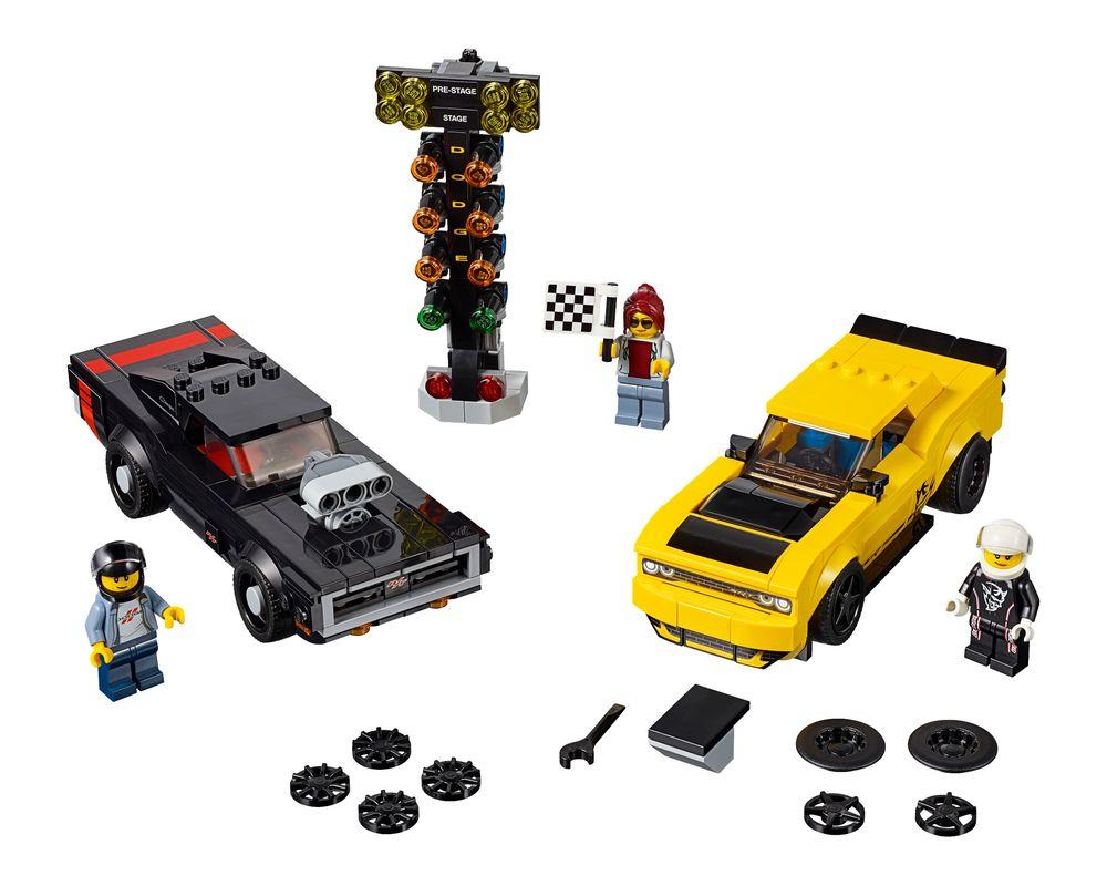 LEGO Set 75893-1 2018 Dodge Challenger SRT Demon and 1970 Dodge Charger R/T (LEGO - Model)
