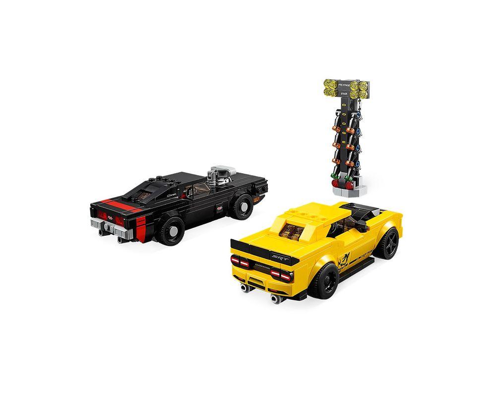 LEGO Set 75893-1 2018 Dodge Challenger SRT Demon and 1970 Dodge Charger R/T