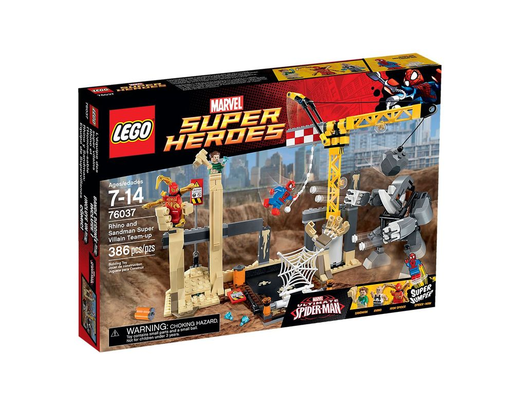 LEGO Set 76037-1 Rhino and Sandman Supervillain Team-up