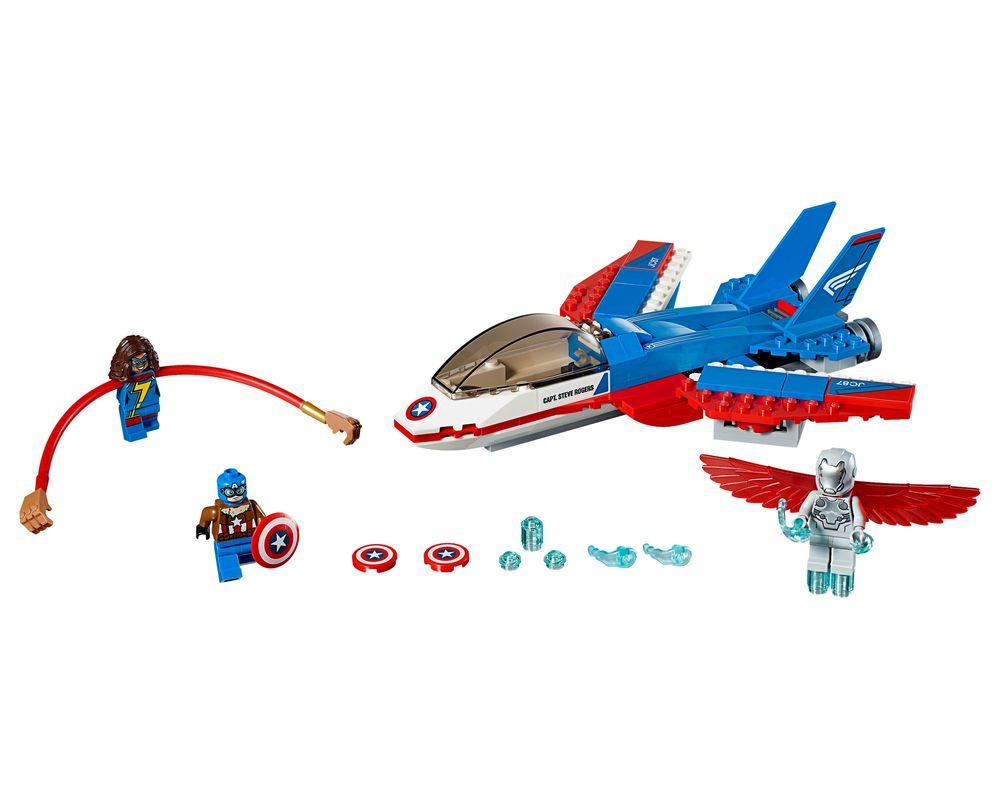 LEGO Set 76076-1 Captain America Jet Pursuit (Model - A-Model)