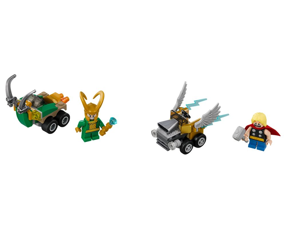 LEGO Set 76091-1 Mighty Micros: Thor vs. Loki (LEGO - Model)