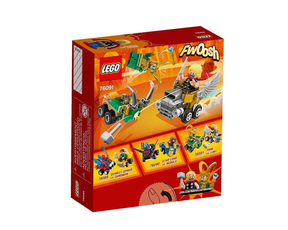 LEGO Set 76091-1 Mighty Micros: Thor vs. Loki
