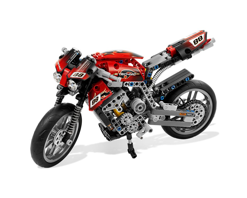LEGO Set 8051-1 Motorbike (Model - A-Model)