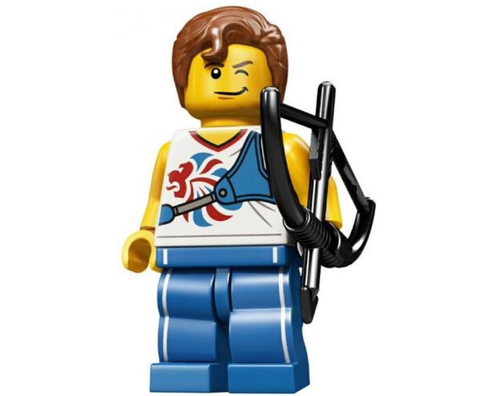 LEGO Set 8909-9 Agile Archer - Team GB Complete Set with Stand and Accessories (LEGO - Model)