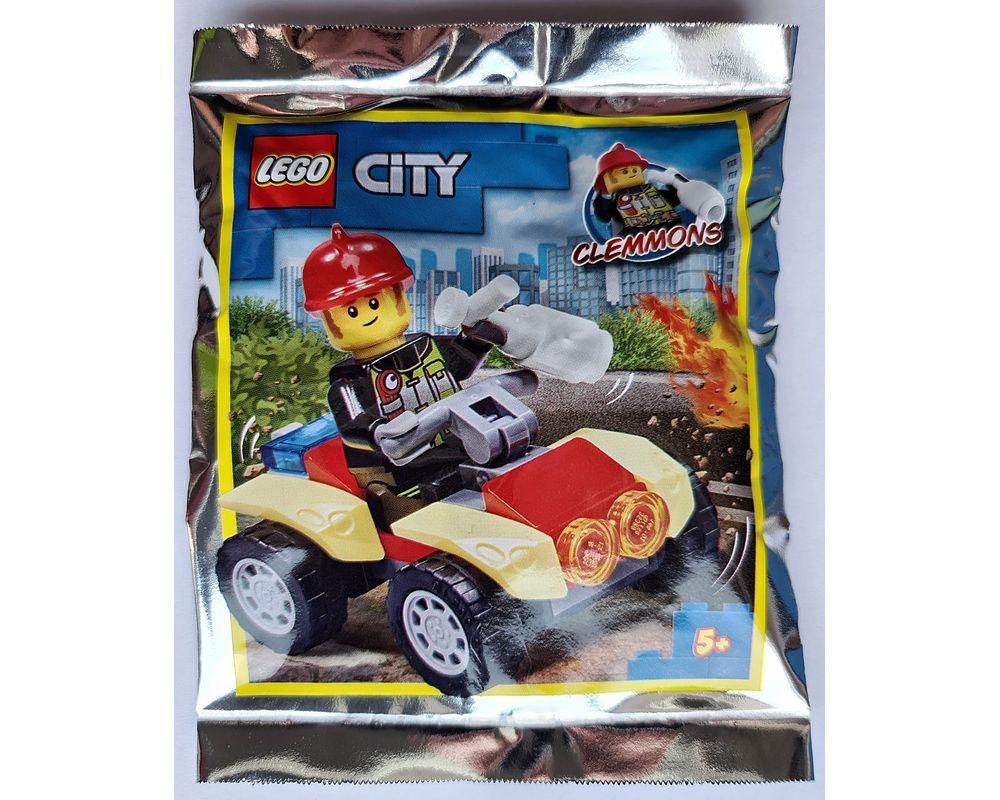 Lego City New Film Pack 952009 pompier clemmoms /& Quad