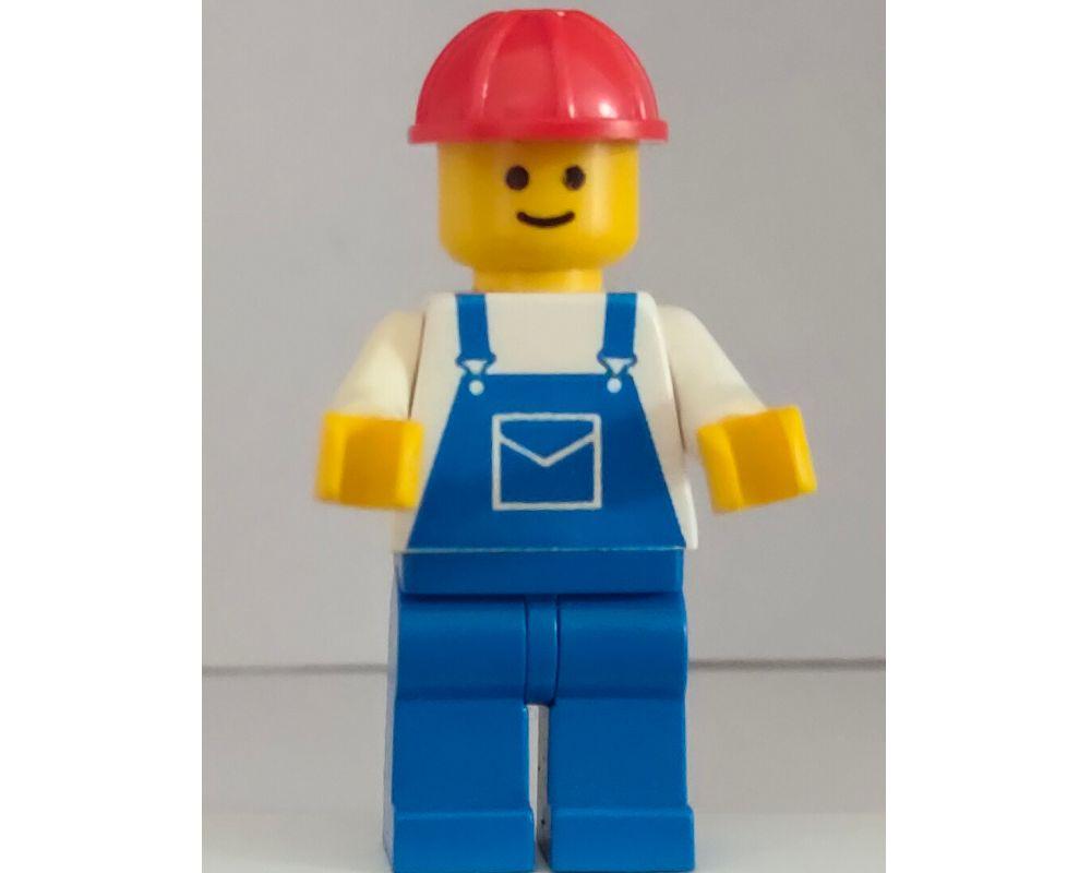 Lego Figur  Town Mann weiße Jacke Reißverschluß  roter Helm zip012  6346