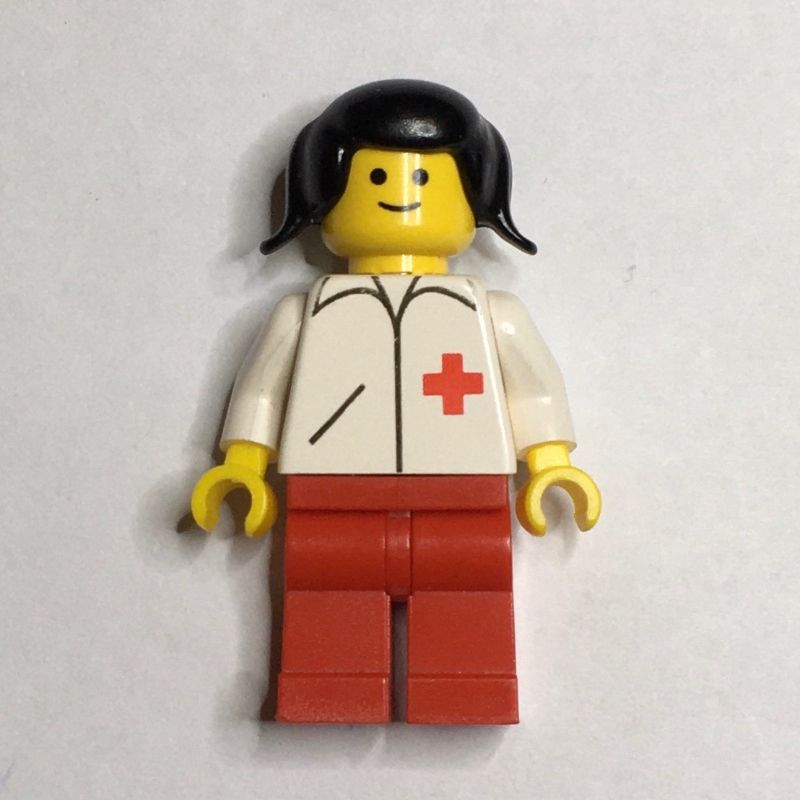 Lego Figure accessories Helmet Red with Black Hair Woman 1705 FA