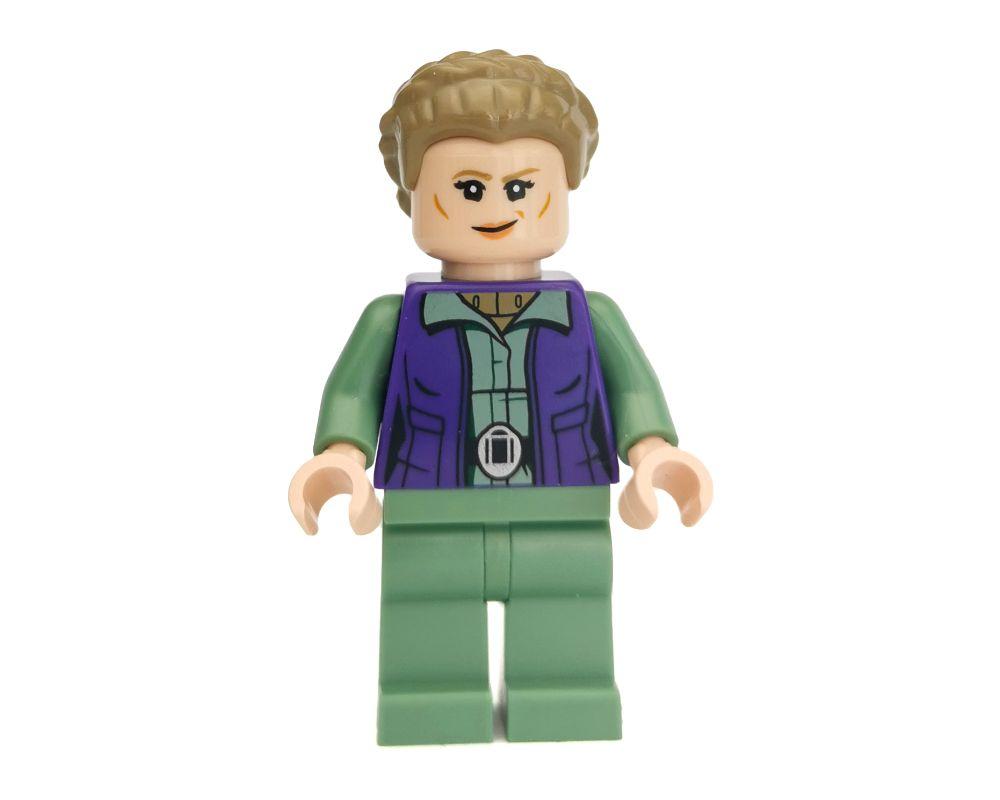 Lego Minifig Princesa Leia versão Amarelo Longa trança cabelo Raro Star Wars Fig