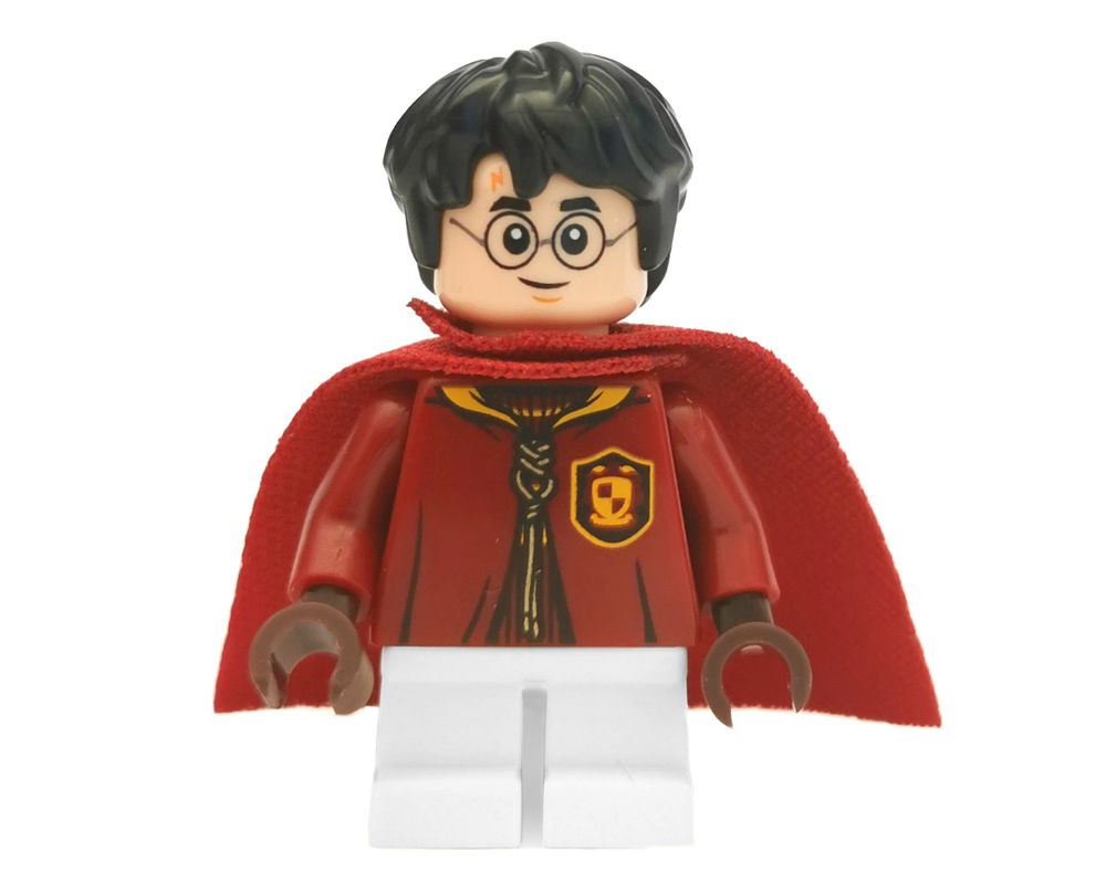 LEGO  HARRY POTTER MINIFIGURE QUIDDITCH pink flesh DUAL EXPRESSION with cloak