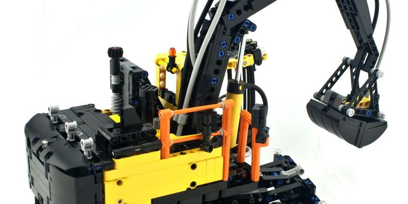 Lego 5 New Black Technic Digger Buckets 5 x 7 x 4 1//2 Clamshell with Pin Hole