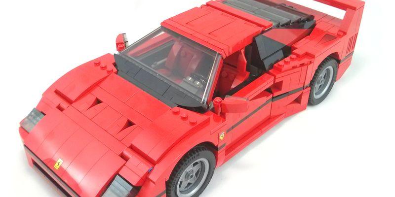Review 10248 Ferrari F40 Rebrickable Build With Lego
