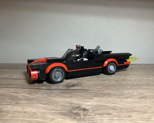 MOVIE SERIES MOC 24651 1966 Batmobile by Jerrybuildsbricks MOCBRICKLAND