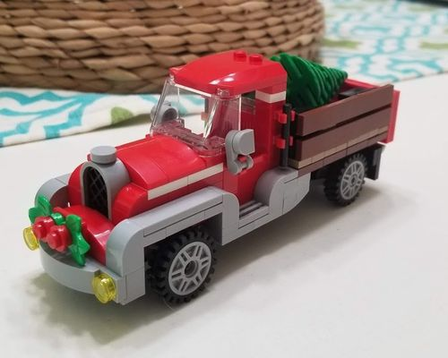 City series moc 17099 winter village old truck by brick_monster mocbrickland