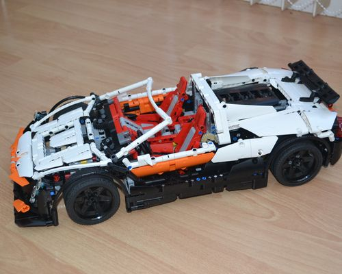 Technic moc 4687 updated simple supercar by lipko mocbrickland